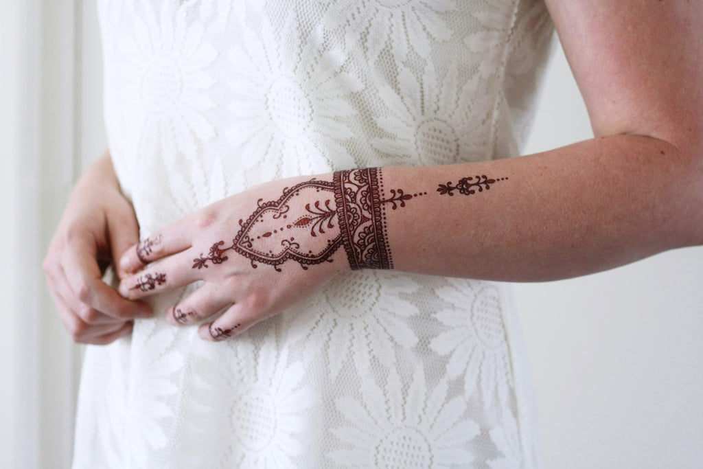 Henna style temporary tattoo - a temporary tattoo by Tattoorary