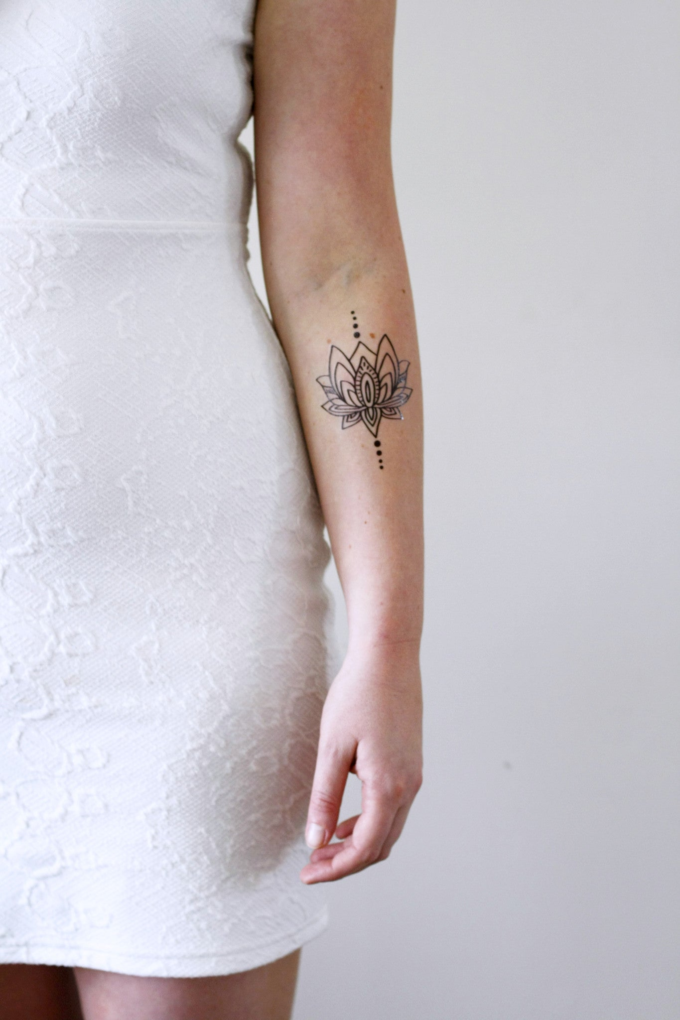 lotus temporary tattoo temporary tattoos by tattoorary. Black Bedroom Furniture Sets. Home Design Ideas