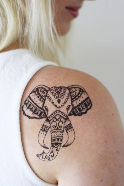 Elephant temporary tattoo - a temporary tattoo by Tattoorary