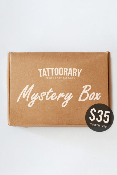 Mystery box - $90 worth of tattoos for just $35! - a temporary tattoo by Tattoorary