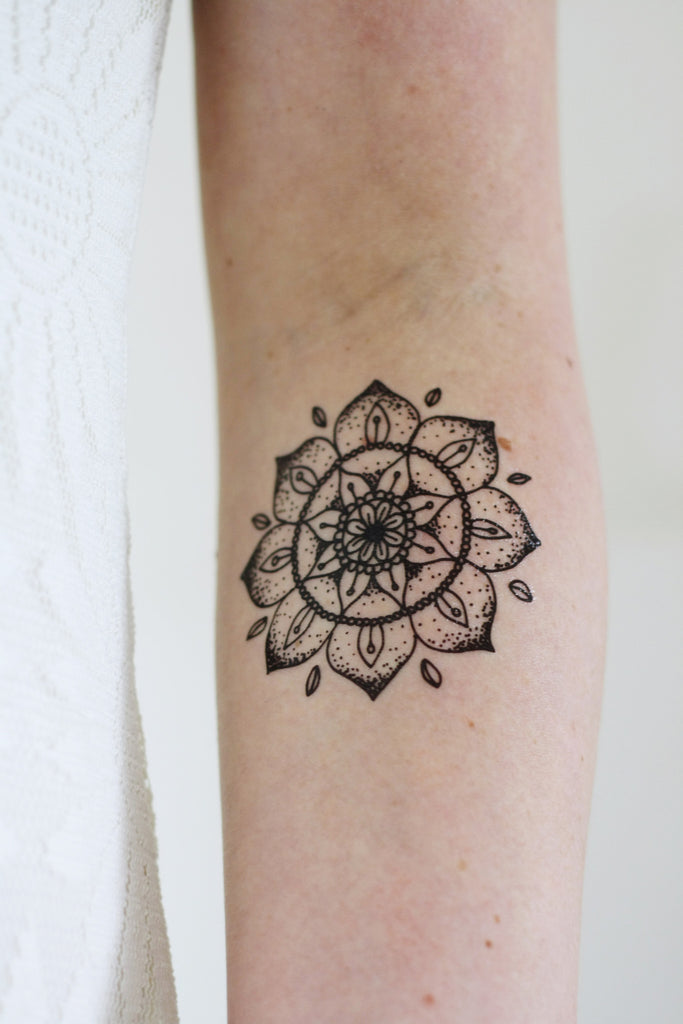 Mandala temporary tattoo - a temporary tattoo by Tattoorary