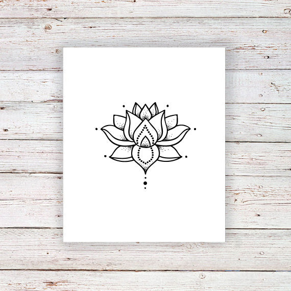 Lotus temporary tattoo