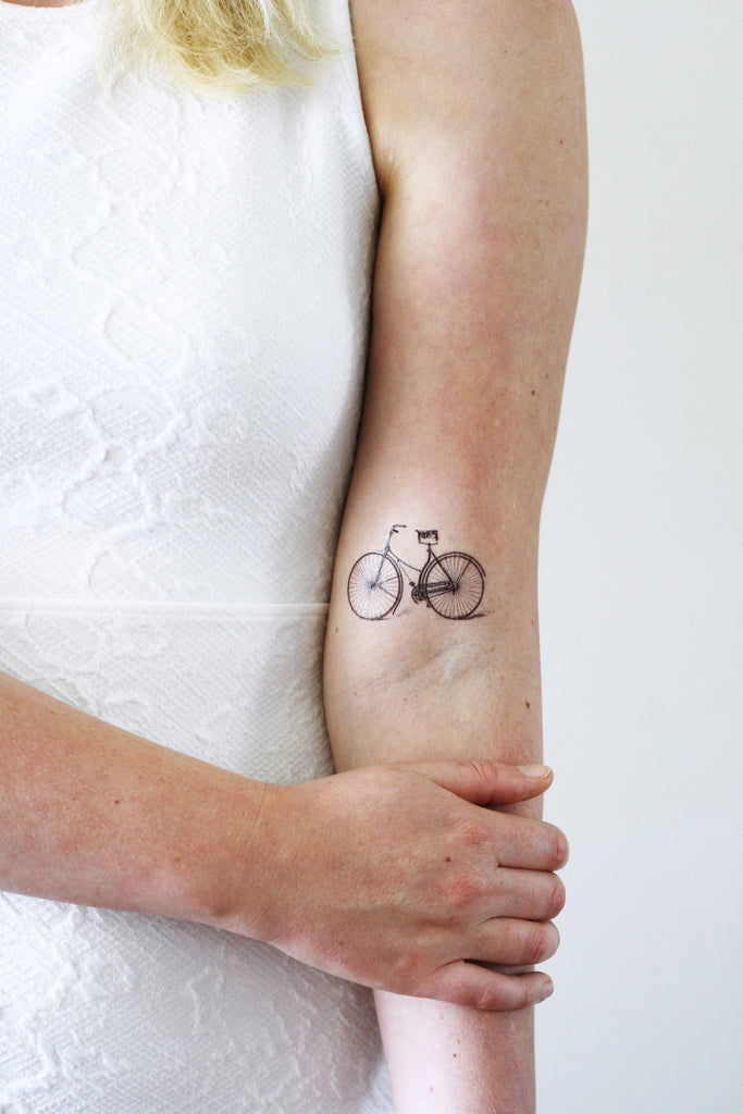 Vintage bicycle temporary tattoo - a temporary tattoo by Tattoorary