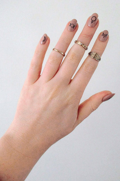 Witch nail decals - a temporary tattoo by Tattoorary
