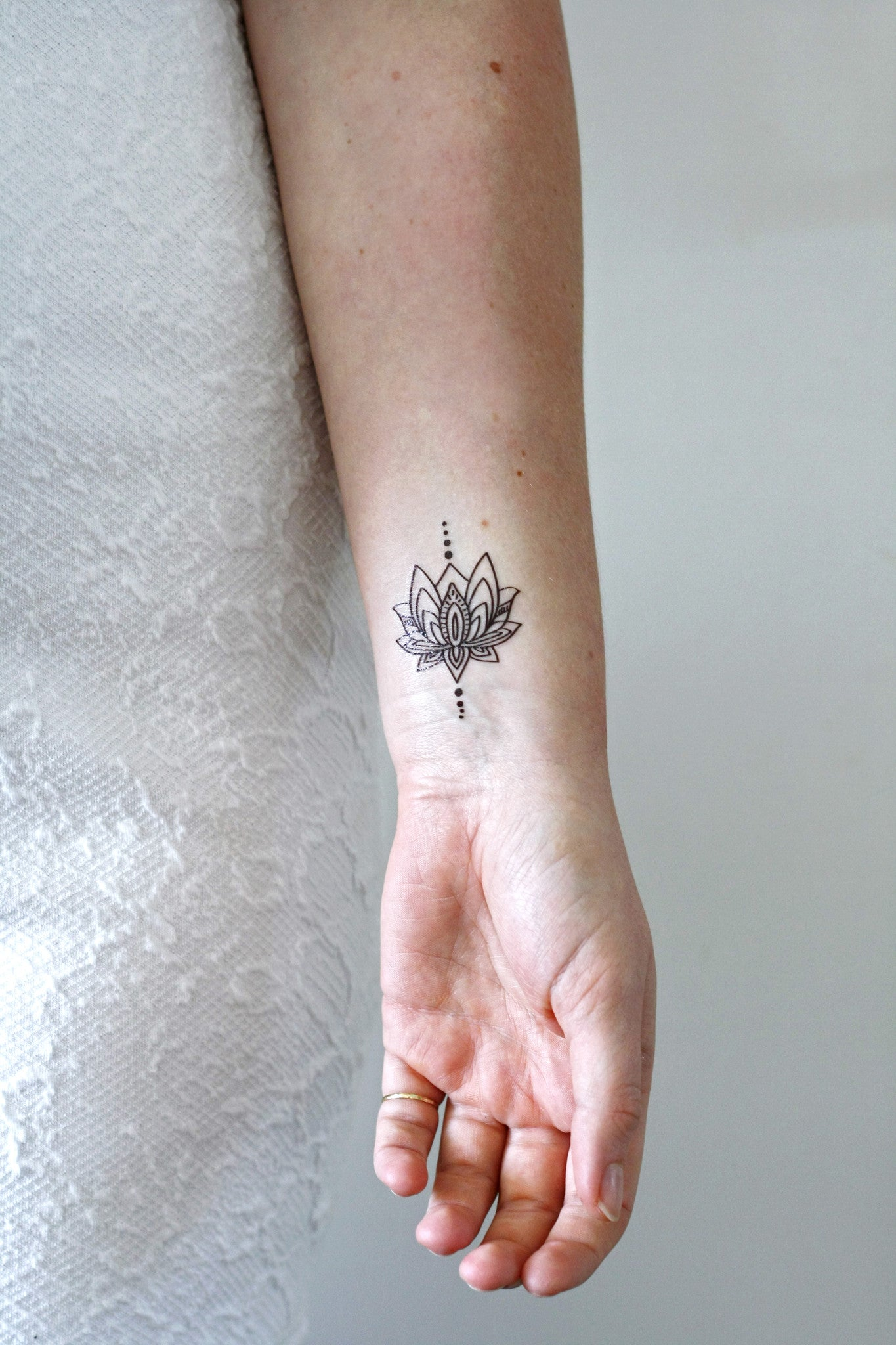 Small lotus temporary tattoo – Temporary Tattoos by Tattoorary