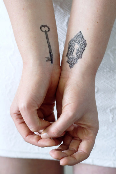 Key and lock temporary tattoo - a temporary tattoo by Tattoorary
