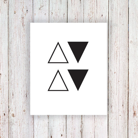 Small triangle temporary tattoos (4 pieces) - a temporary tattoo by Tattoorary