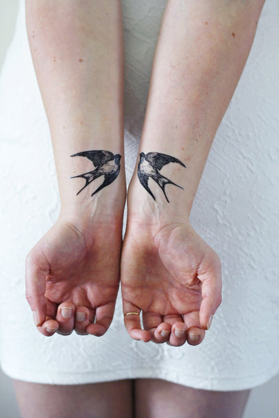 Swallow temporary tattoo - a temporary tattoo by Tattoorary