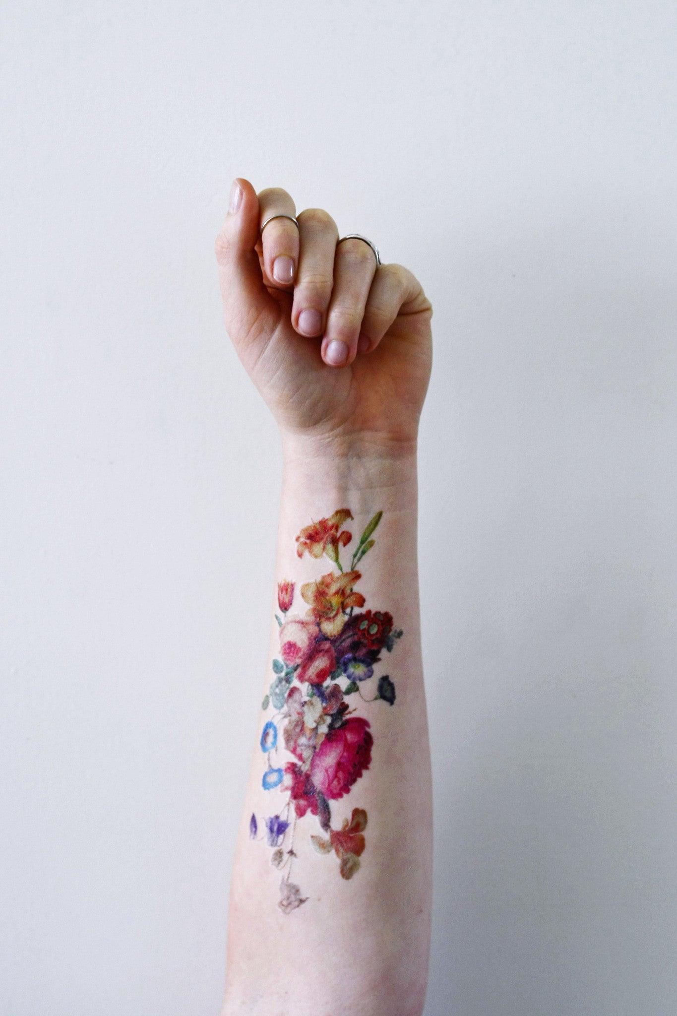 Beautiful Large Vintage Floral Temporary Tattoo Temporary Tattoos