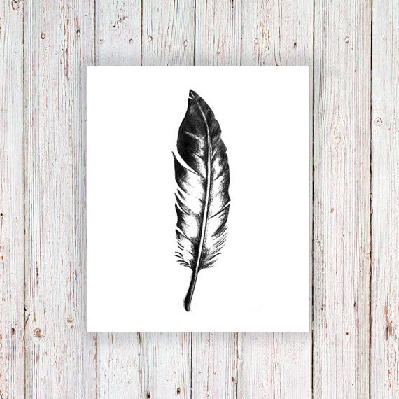 Feather temporary tattoo - a temporary tattoo by Tattoorary