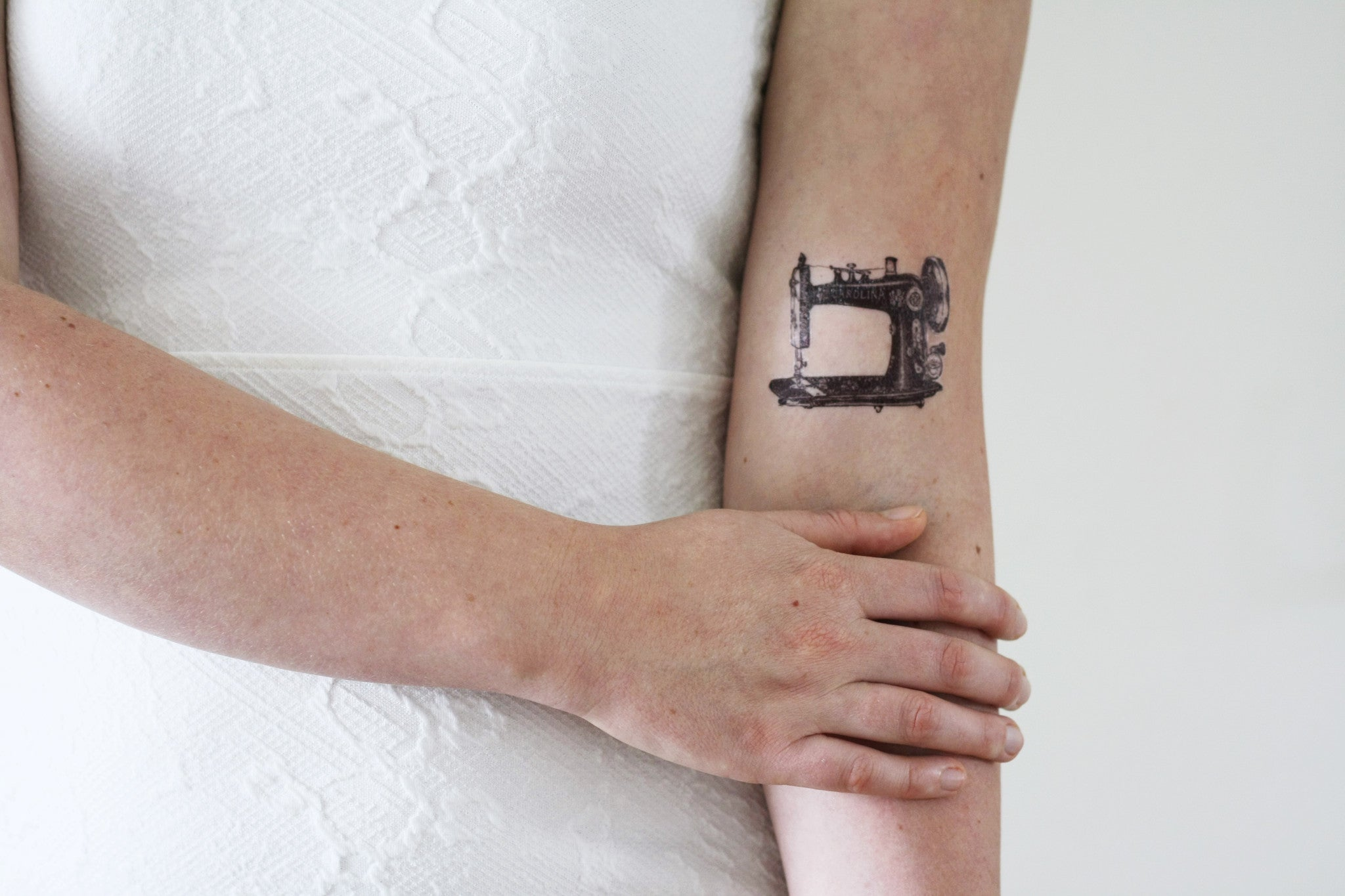 Vintage sewing machine temporary tattoo temporary - Les plus beaux tatouages femme ...