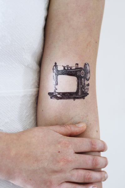 Vintage sewing machine temporary tattoo - a temporary tattoo by Tattoorary