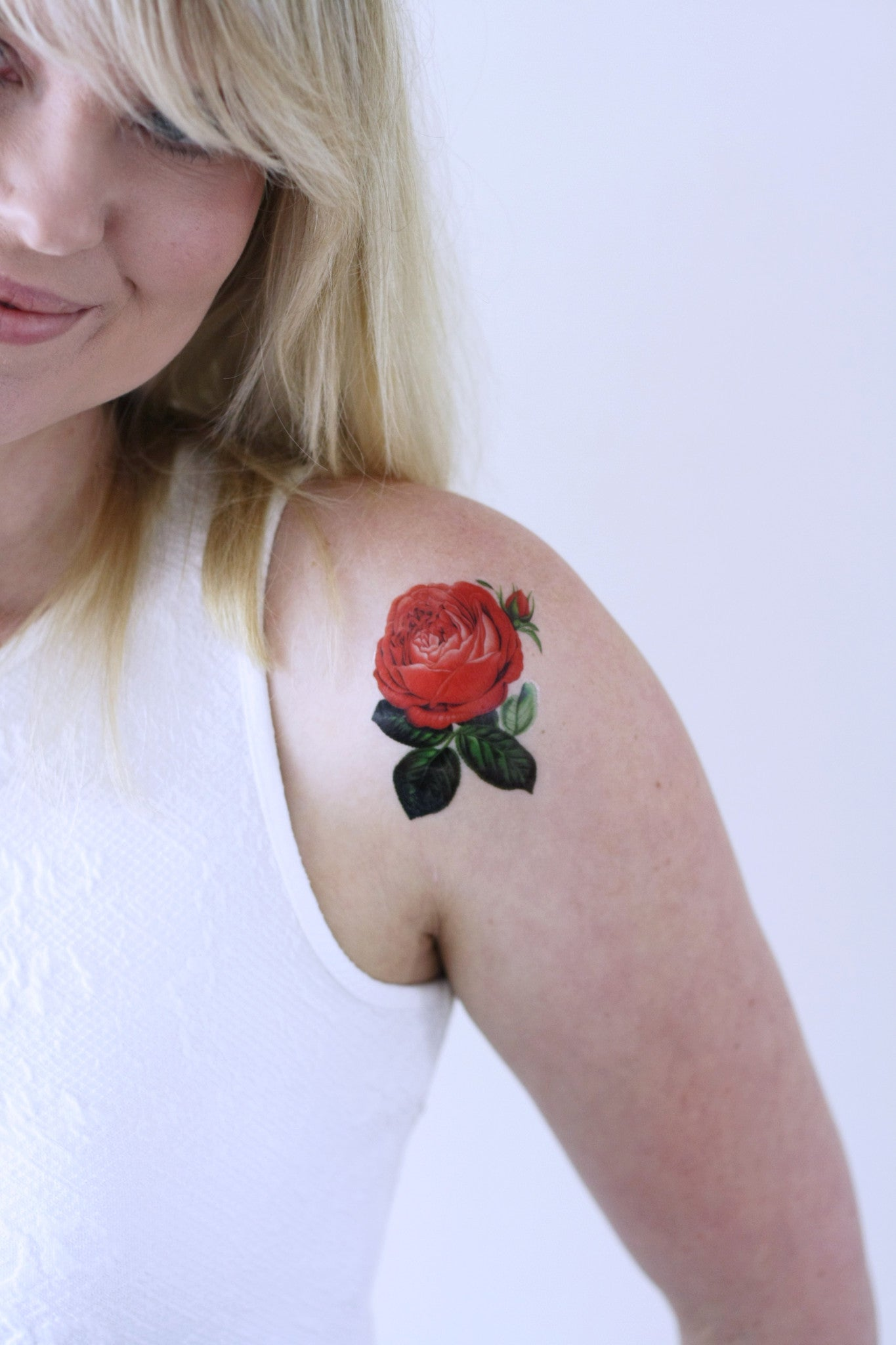 Small Red Rose Temporary Tattoo Temporary Tattoos By Tattoorary