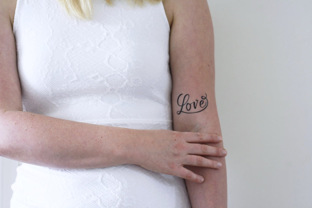 Temporary Love tattoo (2 pieces) - a temporary tattoo by Tattoorary