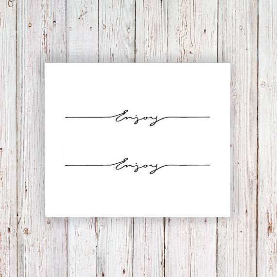 Temporary wrist tattoo 'Enjoy' (2 pieces) - a temporary tattoo by Tattoorary