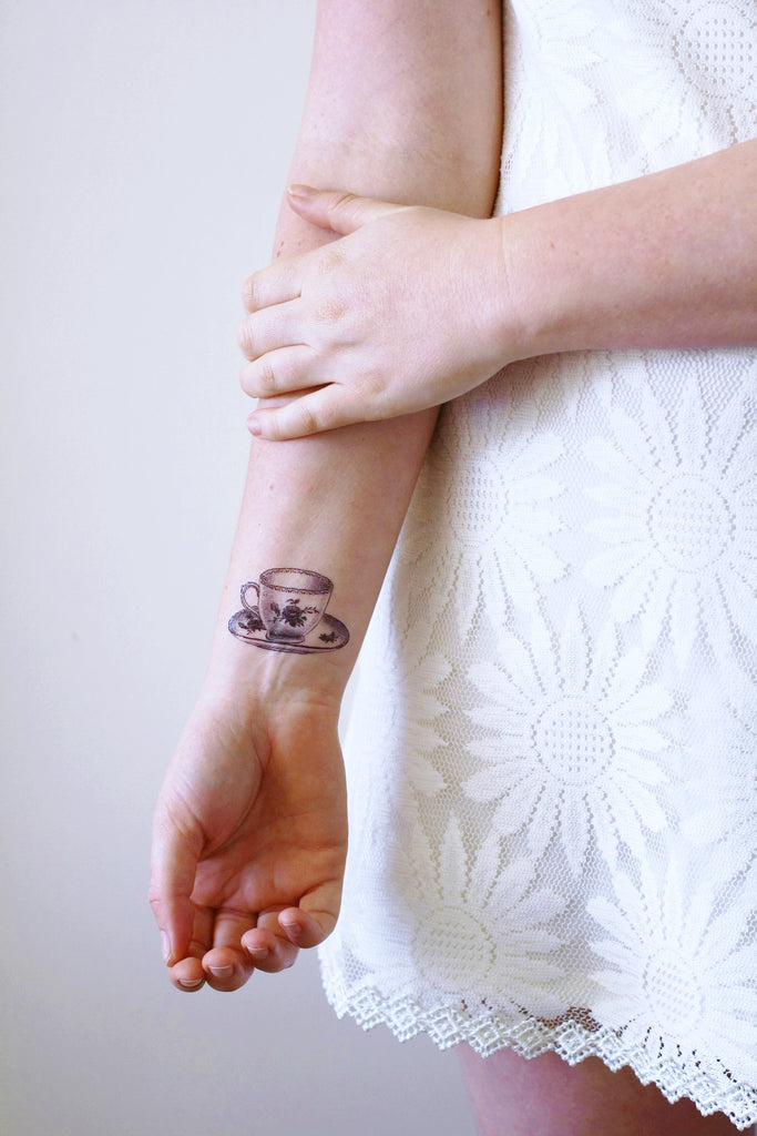 small teacup temporary tattoo temporary tattoos by