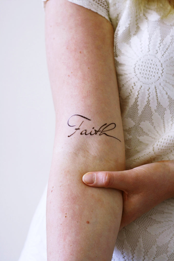 Temporary Faith tattoo (2 pieces) - a temporary tattoo by Tattoorary