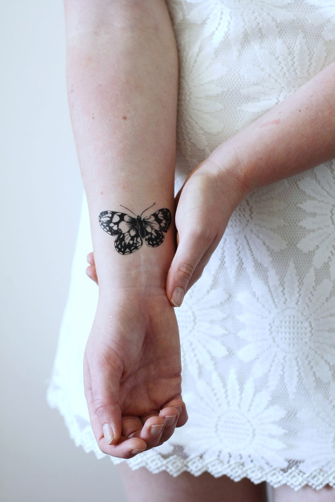 Butterfly temporary tattoo - a temporary tattoo by Tattoorary