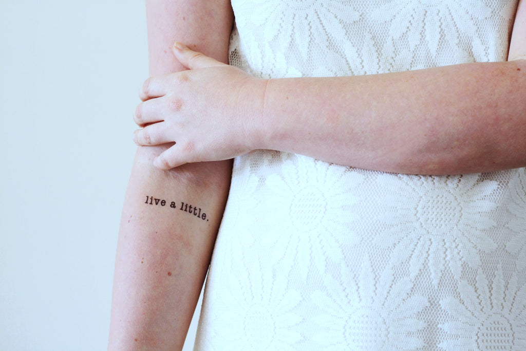 'Live a little' temporary tattoo (2 pieces) - a temporary tattoo by Tattoorary
