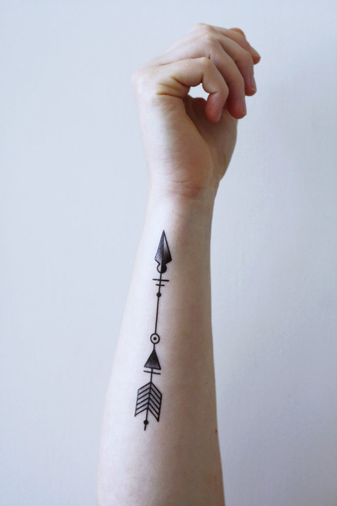 Arrow temporary tattoo - a temporary tattoo by Tattoorary