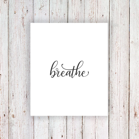 Temporary tattoo 'Breathe' - a temporary tattoo by Tattoorary