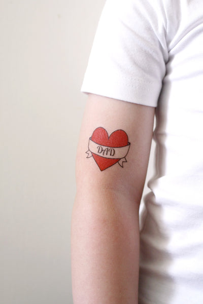 Love Your Dad Tattoo: Temporary Tattoos By Tattoorary