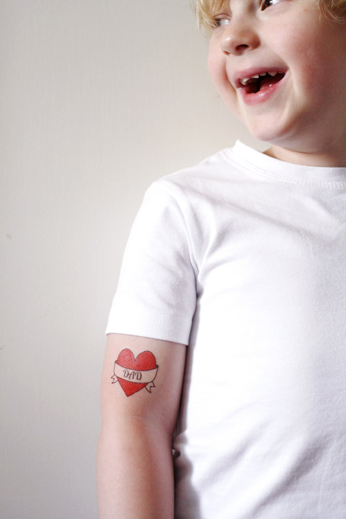 I love dad temporary tattoo - a temporary tattoo by Tattoorary