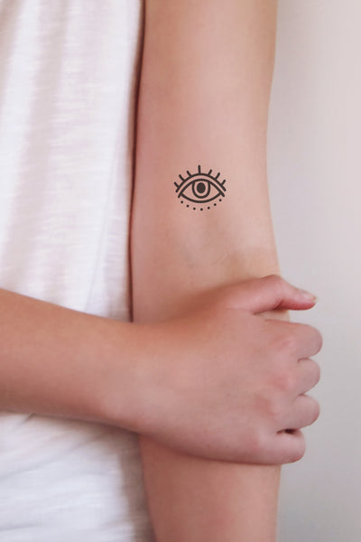 Evil eye temporary tattoo