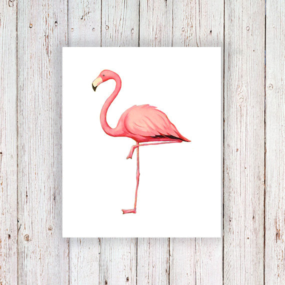 Flamingo temporary tattoo - a temporary tattoo by Tattoorary