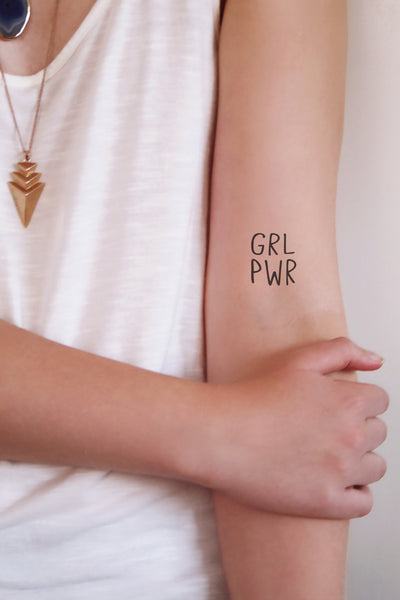 GRL PWR temporary tattoo - a temporary tattoo by Tattoorary