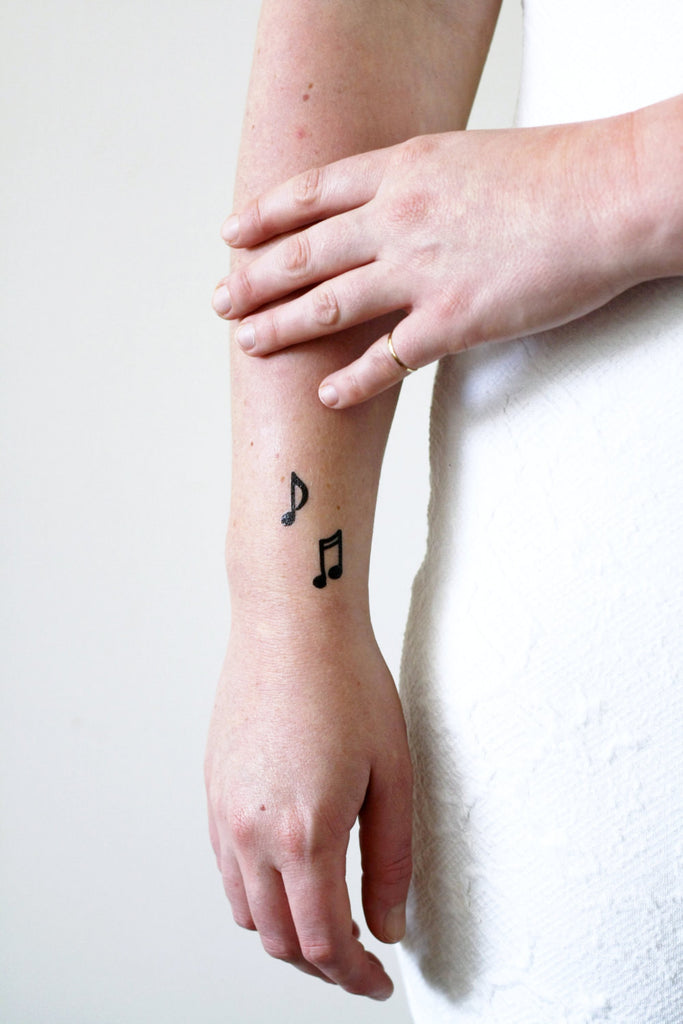 Musical notes temporary tattoo set (4 pieces) - a temporary tattoo by Tattoorary