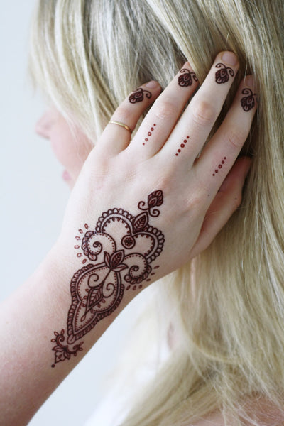 Bohemian henna temporary tattoo - a temporary tattoo by Tattoorary