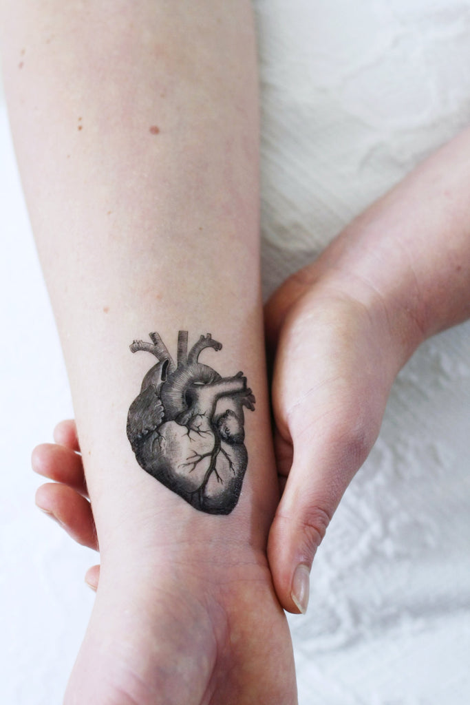 Human heart temporary tattoo - a temporary tattoo by Tattoorary