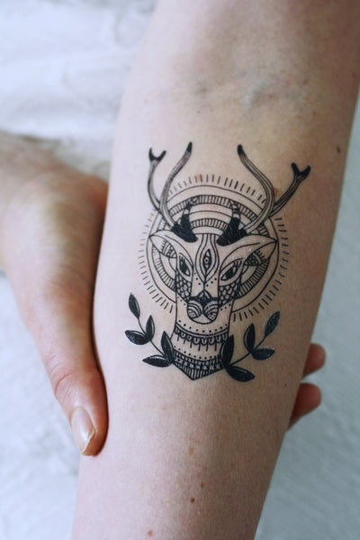 Deer temporary tattoo - a temporary tattoo by Tattoorary
