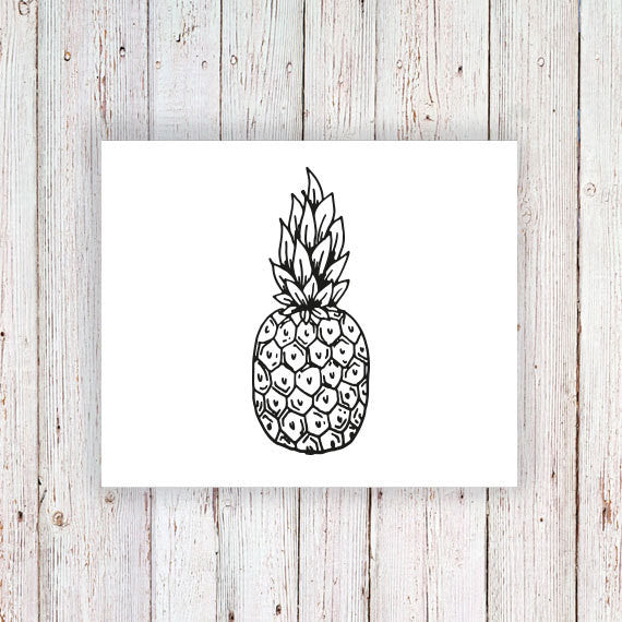Pineapple temporary tattoo - a temporary tattoo by Tattoorary