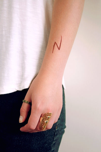 lightning bolt scar temporary tattoo - a temporary tattoo by Tattoorary