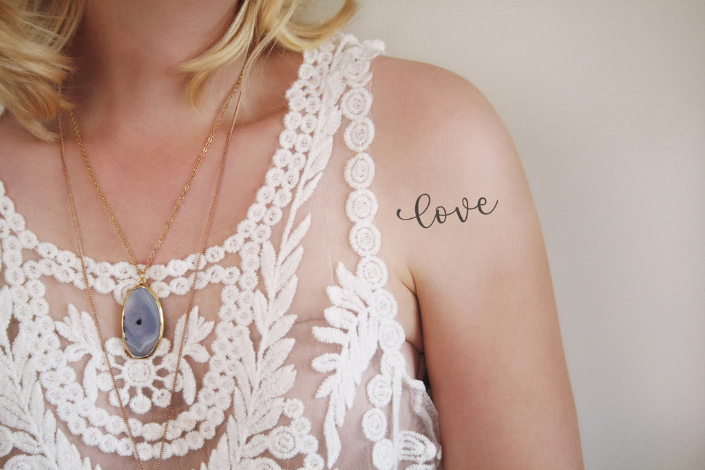 Temporary tattoo 'Love' - a temporary tattoo by Tattoorary