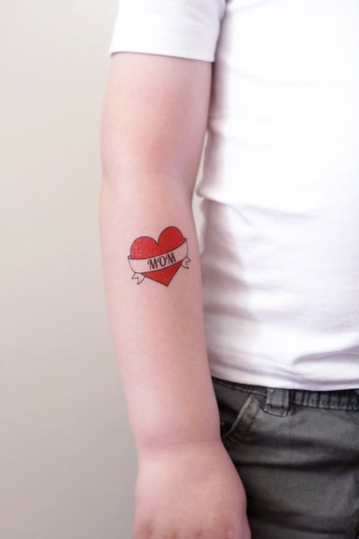 I love mom temporary tattoo - a temporary tattoo by Tattoorary