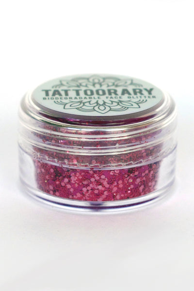 Biodegradable chunky face glitter in 'Pink Dream' - a temporary tattoo by Tattoorary