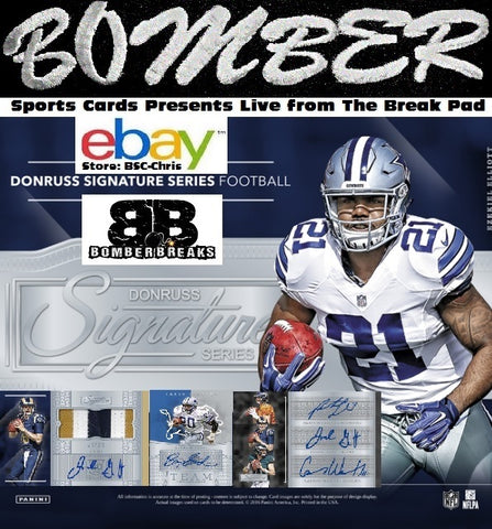 2016 Panini Donruss Signatures Series 8 Box Case Break - (eBay Store BSC-Chris Team Auctions*) - Ending WEDNESDAY @8pm ET - 5/23/18