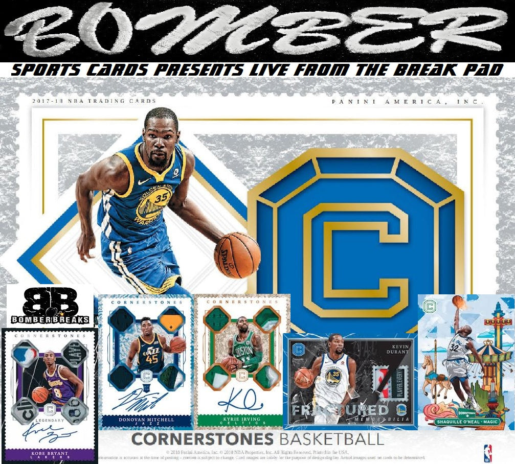 SUNDAY NIGHT - 2017/18 Panini Cornerstones Basketball 6 Box Half Case Break - Random Team #7 - Live 8/16/20 (16 left)