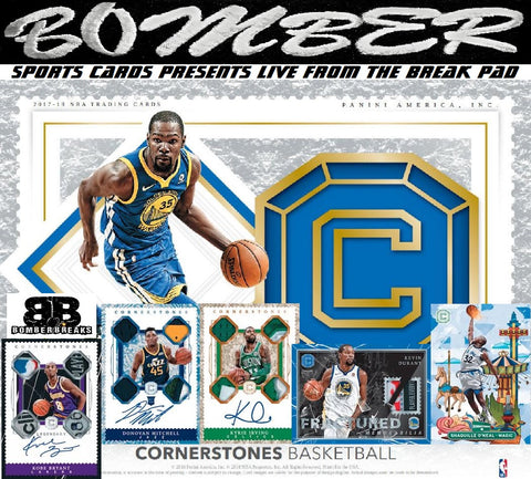SUNDAY NIGHT - 2017/18 Panini Cornerstones Basketball 3 Box Break - Random Team #13 - Live 9/20/20 (26 left)