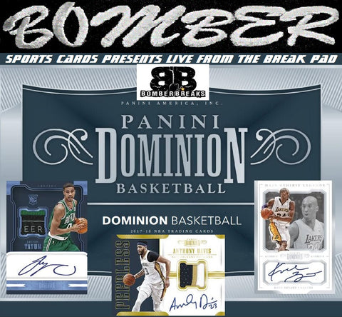 2017/18 Panini Dominion Basketball 6 Box Case Break - Random Team #1 - Live 5/23/18