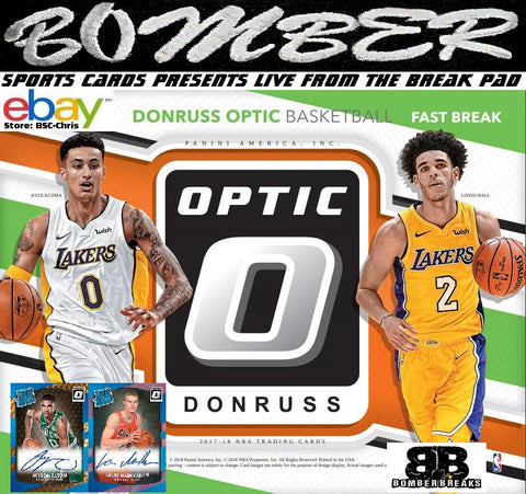 2017/18 Panini Optic Basketball Fast Break 5 Box 1/4 Case Break - (eBay Store BSC-Chris Team Auctions*) - Ending WEDNESDAY @7pm ET - 8/15/18 -