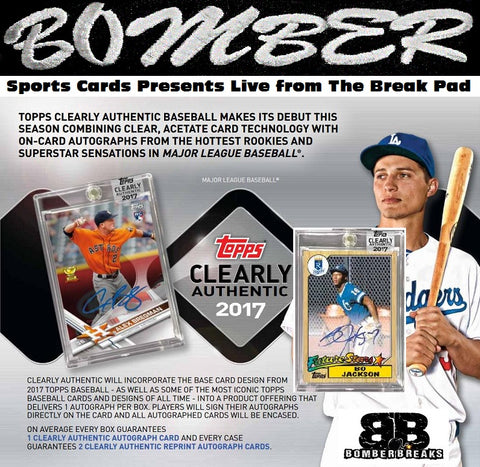 2017 Topps Clearly Authentic 20 Box Case Break - Pick Your Team #4 - Live after eBay 8/16/17
