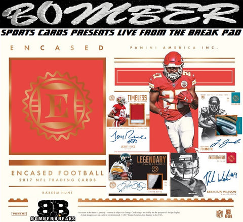 2017 Panini Encased Football 8 Box Case Break - Pick Your Team #3 - Live 2/28/18