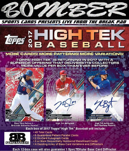 2017 Topps High Tek Baseball 6 Box Half Case Break - Random Division #1 - Live After eBay ~10:25pm ET 11/16/17 (3 Entries Luminaries Box Full Sellout Giveaway*)