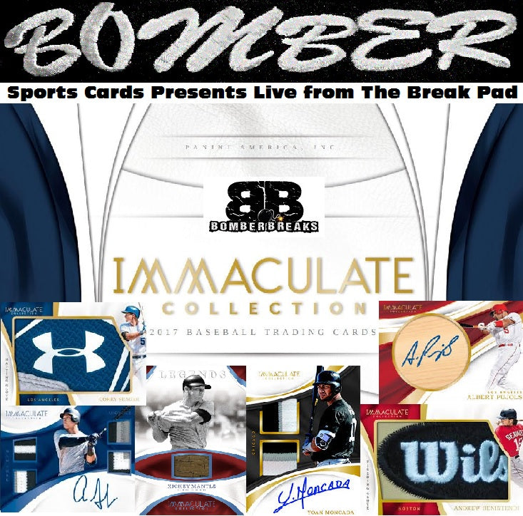 EARLY PREVIEW BREAK - 2017 Panini Immaculate Baseball 8 Box Case Break - Random Division #1 - Live 1:00 EST - 8/15/17