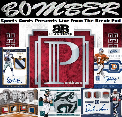 THURSDAY NIGHT - CHASING MAHOMES 2017 Panini Pantheon Football 5 Box Case Break - Random Teams #2 - Live 4/2/20