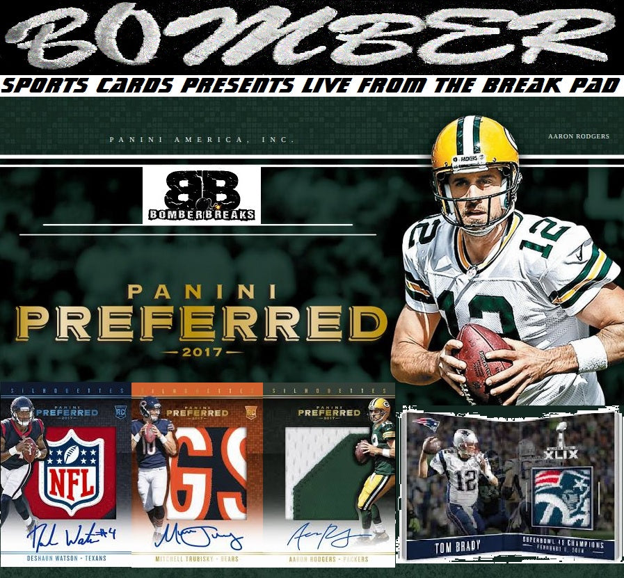 2017 Panini Preferred Football 10 Box Case Break - Pick Your Team #1 - Live 12/13/17